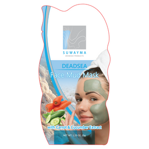 Dead Sea Face Mud Mask with Carrot & Cucumber Extract 1 Sachet
