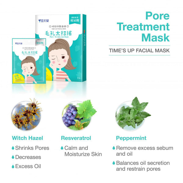 TIME'S UP FACIAL MASK - Pore Treatment MASK 5/pk