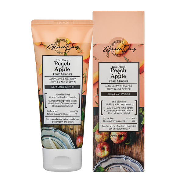 [GRACE DAY] REAL FRESH PEACH & APPLE FOAM CLEANSER - 100ML