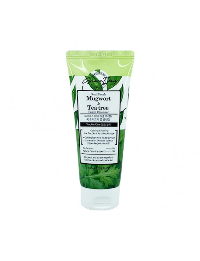 [GRACE DAY] REAL FRESH MUGWORT & TEA TREE FOAM CLEANSER - 100ML