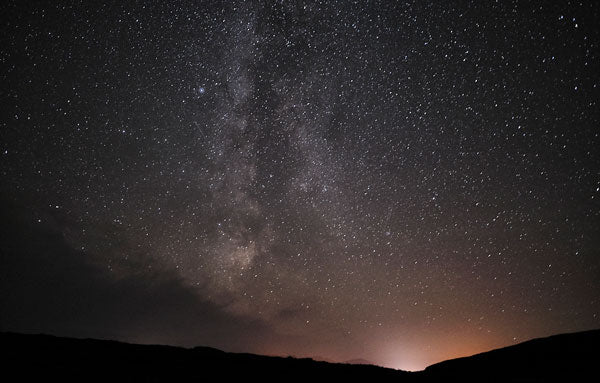 Milky Way and Breasclete village lights