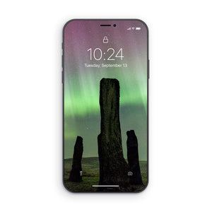 Callanish Standing Stones and Aurora Phone Wallpaper