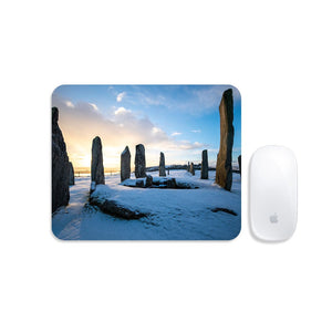 Callanish Snowy Sunrise Mousemat