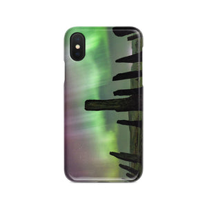 Callanish Standing Stones and Aurora Phone Case