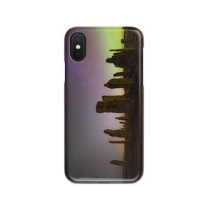Callanish, Zodiacal Light and Aurora Phone Case