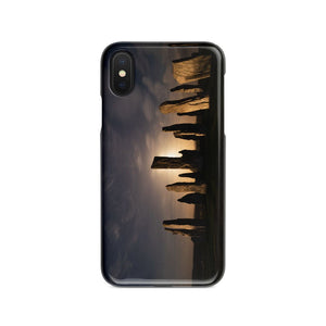Callanish, Full Moon and Clouds Phone Case