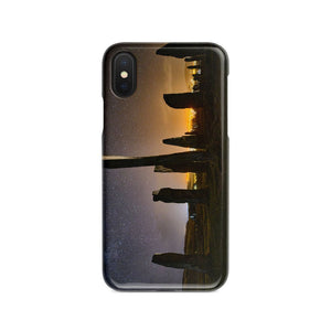 Callanish Standing Stones and Village Lights Phone Case