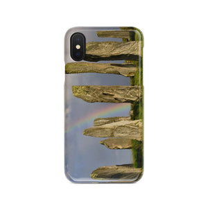 Callanish and Rainbow Phone Case