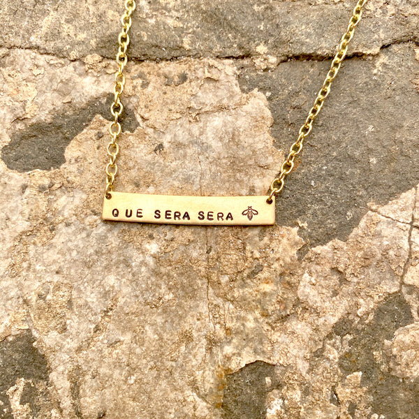 *CUSTOM ORDER* Hand Stamped Bar Necklace