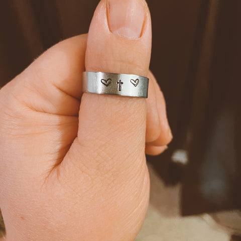 *CUSTOM ORDER* Hand Stamped Ring