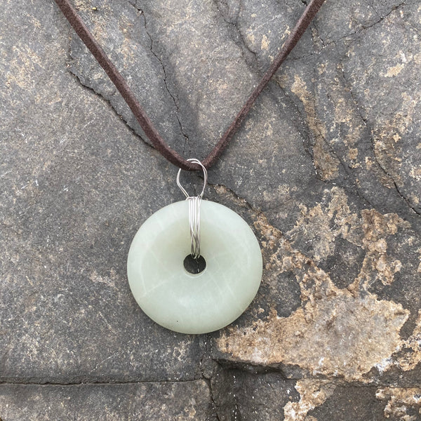 Winter Sage Green Pendant Necklace