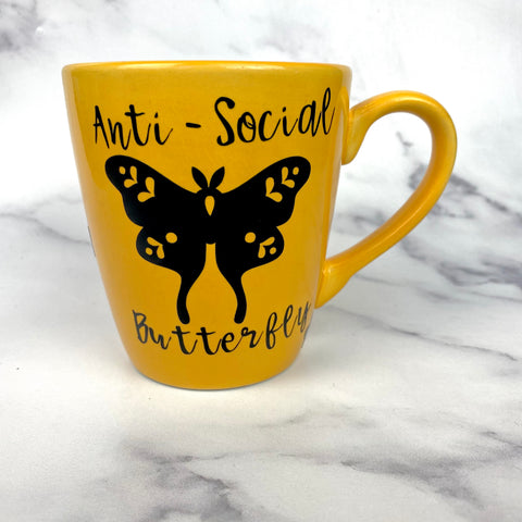 Anti- Social Butterfly 12oz Mug