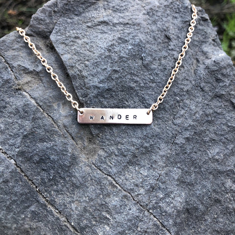 Wander Mini Bar Necklace
