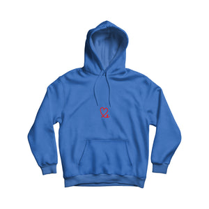 Youth Royal Blue & Red Pullover Hoodie