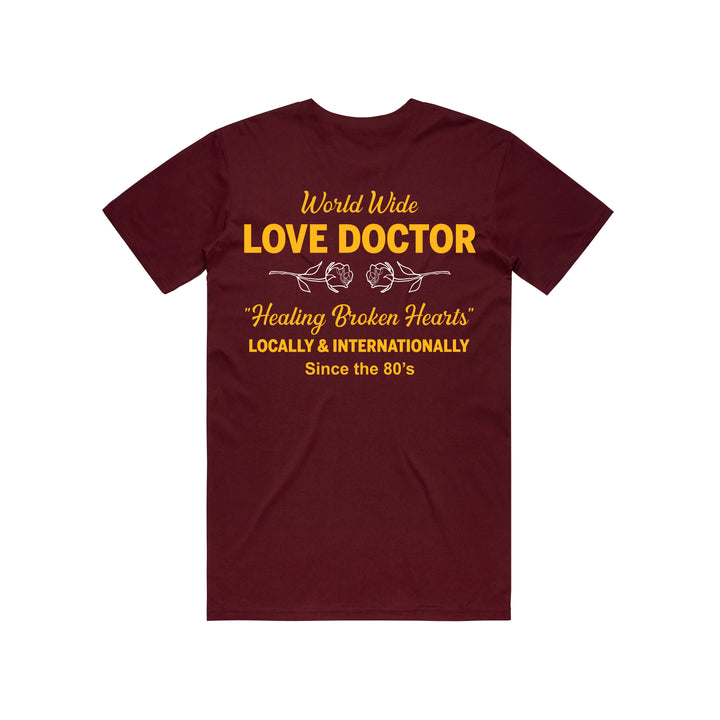 World Wide Love Doctor Tshirt (Maroon)
