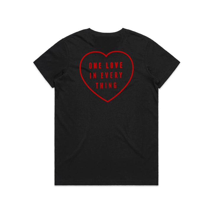 Women's One Love In Everything Tshirt Black / Red