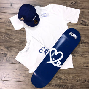 Royal Blue & White LoveIE X Make Skate Limited Edition Pack