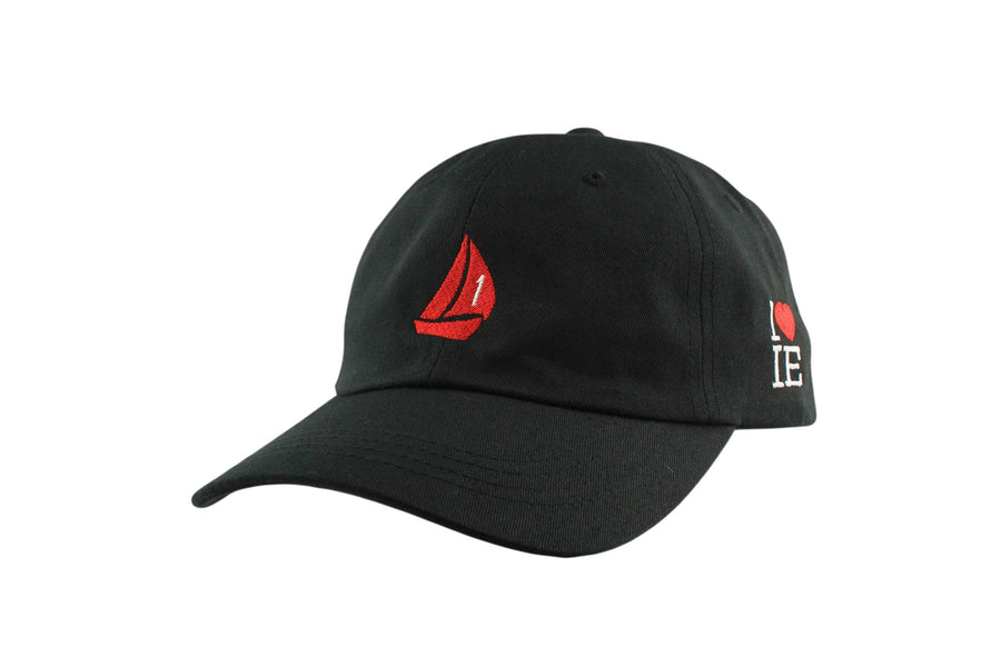 Sail Boat Signature Dad Hat (Black / Red)