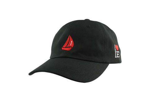 Signature Dad Hat (Charcoal Grey /Red)