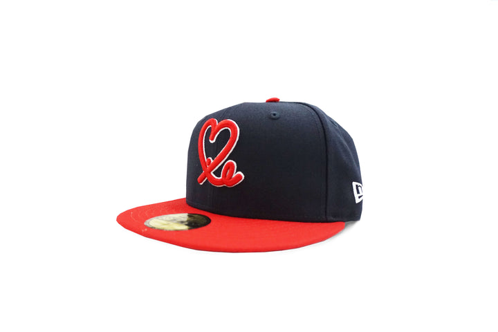 Limited Navy & Red Two Tone 1LoveIE New Era 59FIFTY Fitted Cap