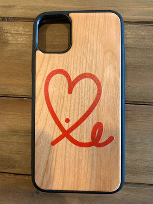 1LoveIE Lazer Engraved Wooden Case for iPhone