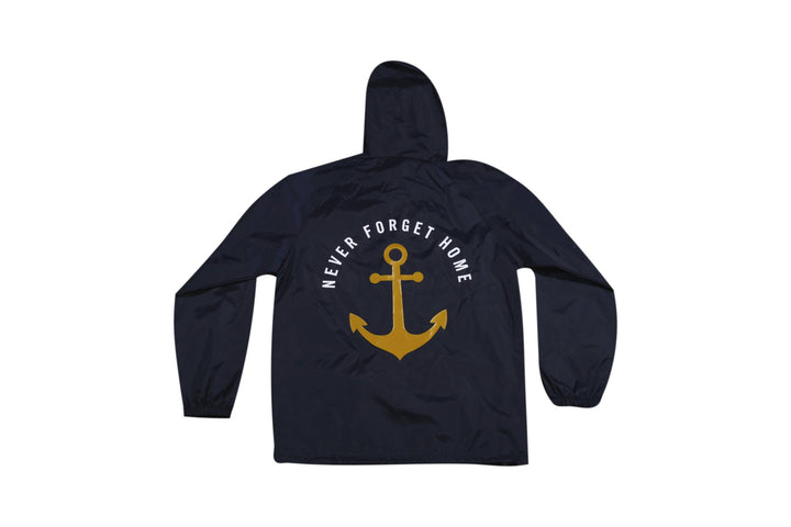 Navy Blue Never Forget Home Parka Pull Over