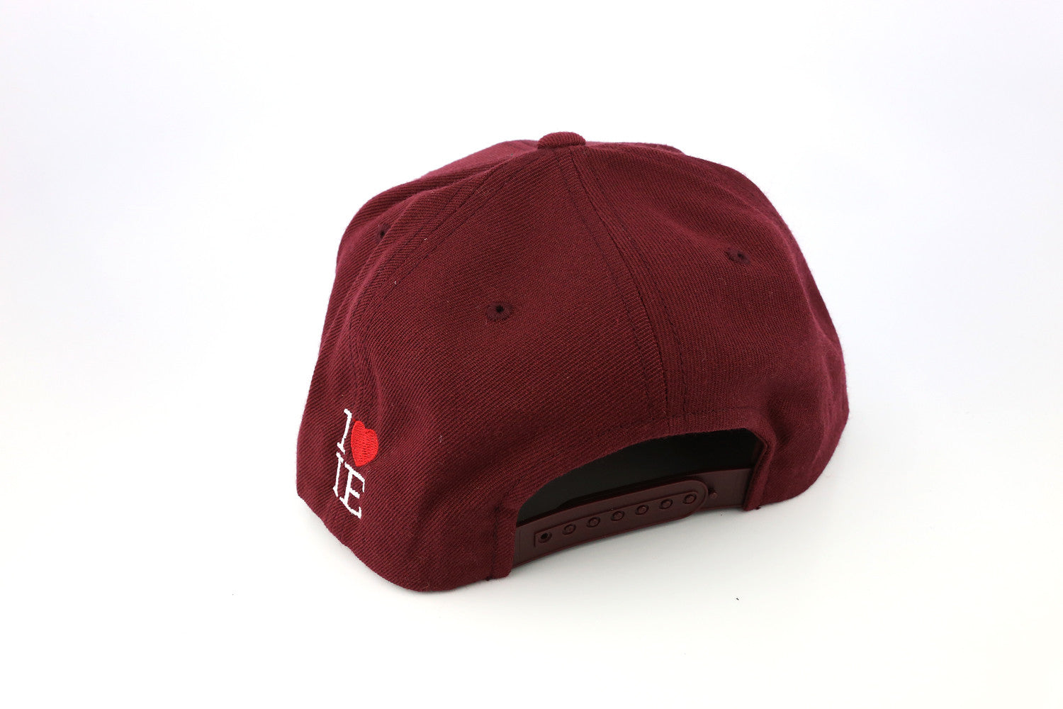 1LoveIE Snapback ( Burgundy /Gold)