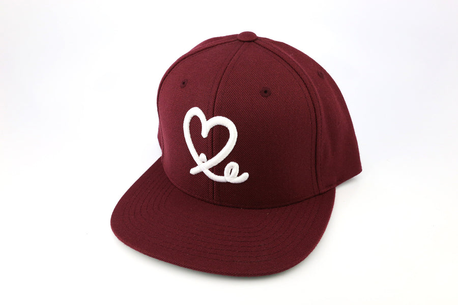 1LoveIE Snapback ( Burgundy / White)