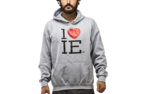 Unisex Original Grey 1LoveIE Sweatshirt (Hoodie)