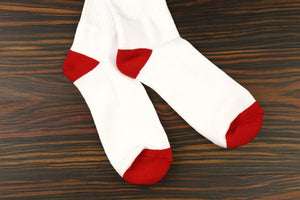 1LoveIE Crew Socks White (Single)