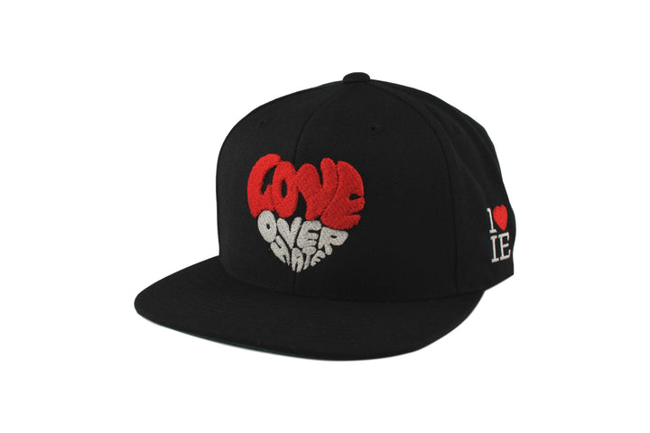 Love Over Hate Heart Snapback