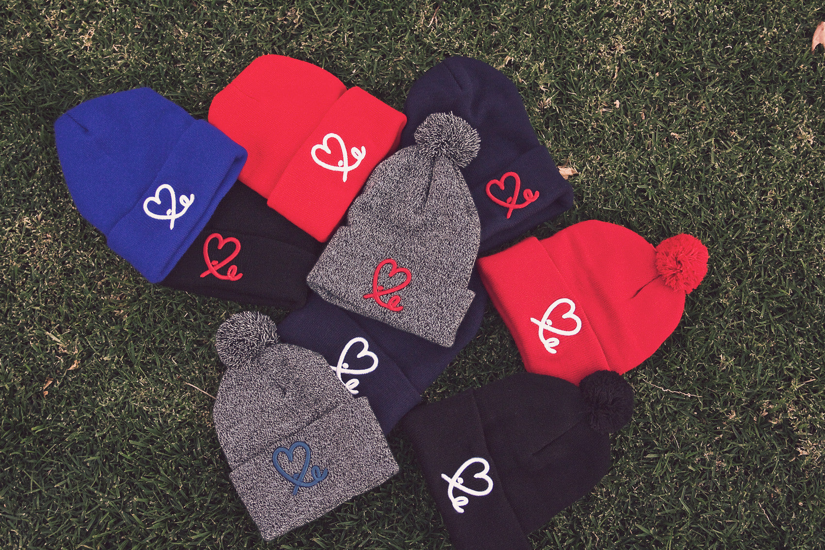 Fold Beanie (Red/White)