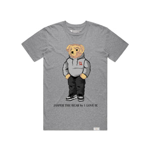 Jasper The Bear Hoodie Heather Grey