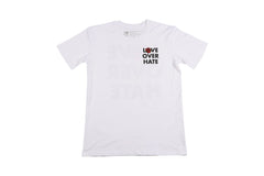 Love Over Hate T-Shirt White