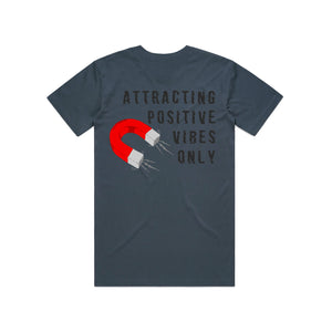 Attracting Positive Vibes Only Tshirt (Cobalt Blue )