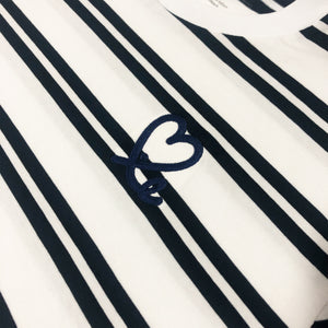 Men's Deep Navy White Stripe Tee