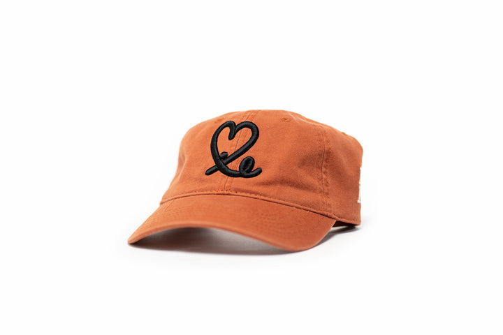 1LoveIE Signature Dad Hat (Burnt Orange / Black)