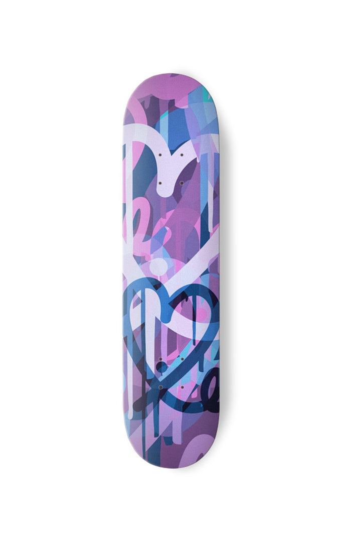 1LoveIE Limited Purple Pastel Bleeding Hearts Skate Deck