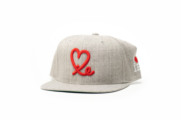 1LoveIE Snapback (Heather Grey /Red)
