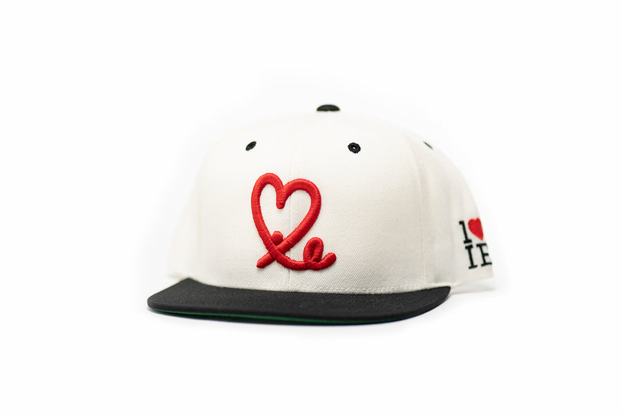1LoveIE Snapback (Two Tone White & Black /Red)