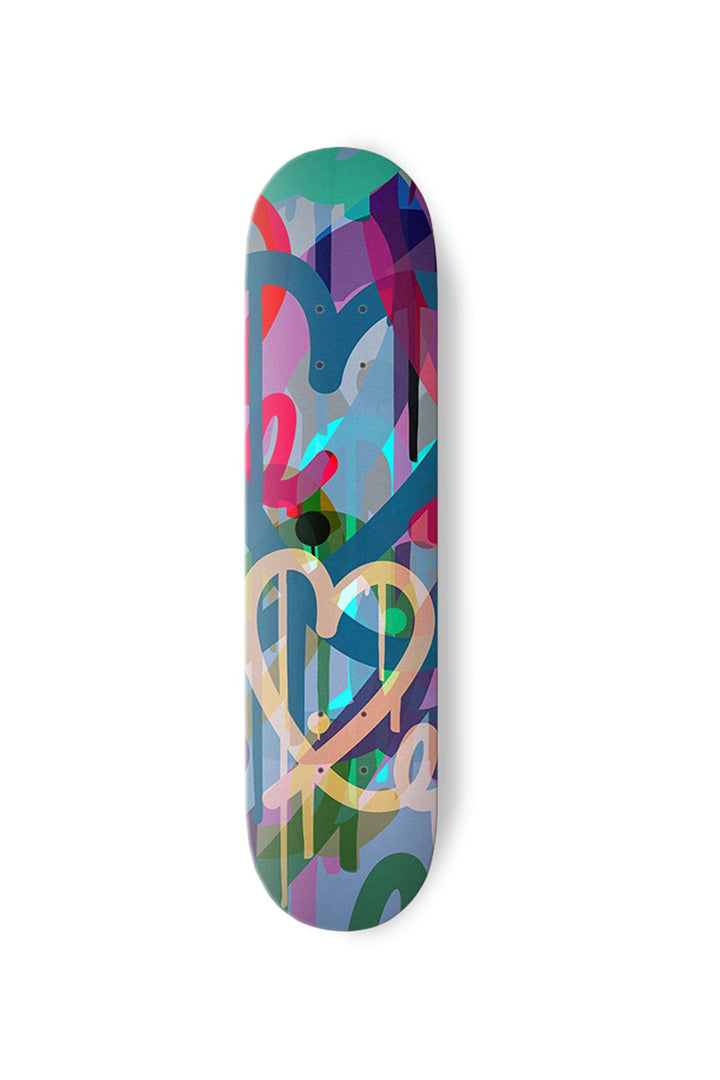 1LoveIE Limited Pastel Bleeding Hearts Skate Deck