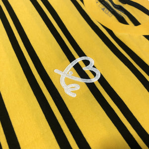 Men's Yellow Black Stripe Tee