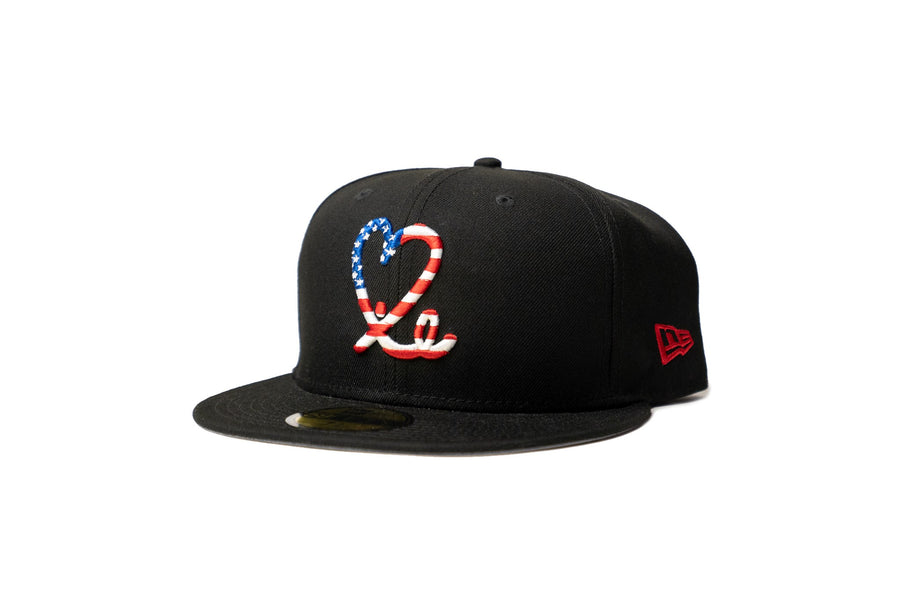 Limited Black & White Americana 1LoveIE New Era 59FIFTY Fitted Cap