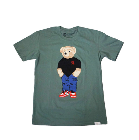 Jasper The Bear Tshirt Sage Green