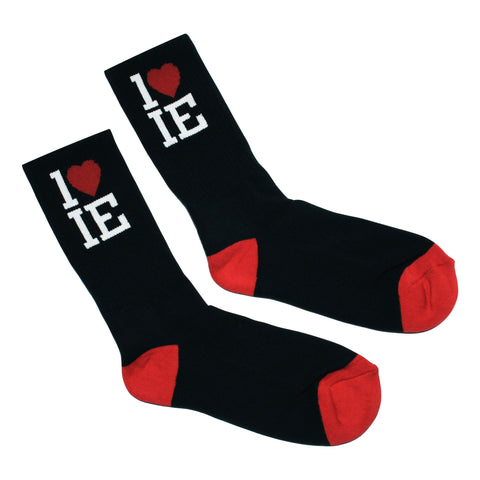 1LoveIE Crew Socks Black (Single)