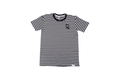 Men's Black White Stripe Tee