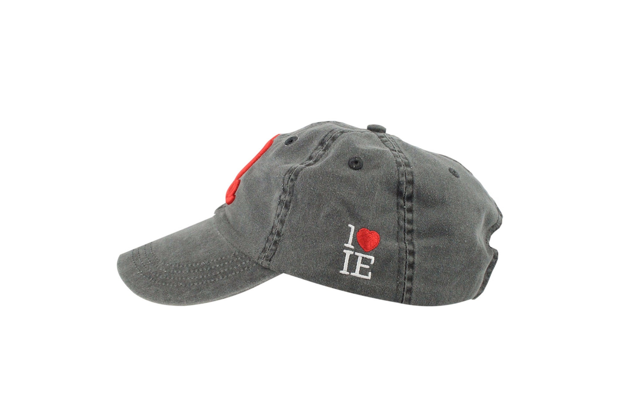 a162d5a46fc Signature Dad Hat (Charcoal Grey  Red) – 1LoveIE