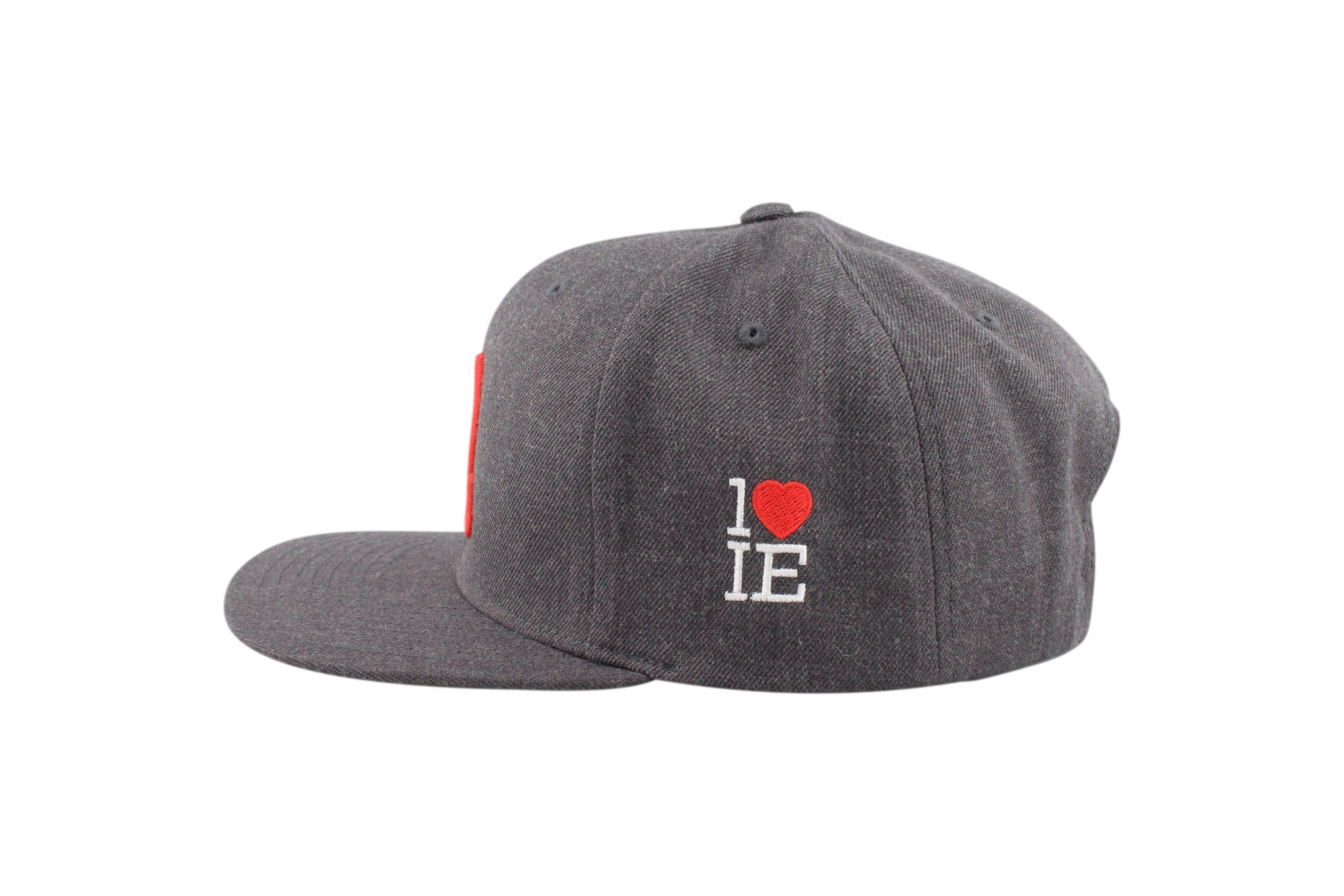 1LoveIE Snapback (Charcoal /Red)