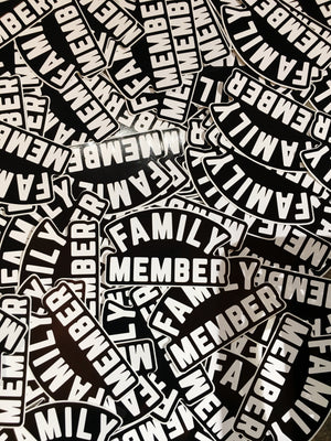 Family Member 4Inch Decal Sticker