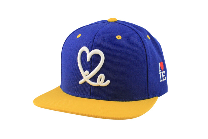1LoveIE Snapback Two Tone (Royal Gold/White)